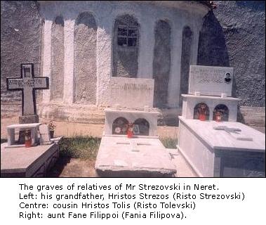 Гробовете на роднини, господин Стрезовского.