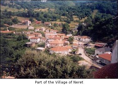 Част от селото Нерет в Егейска Македония